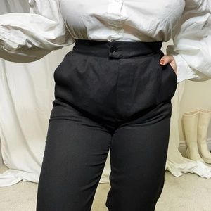 Oak + Fort High Waisted Trousers